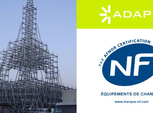 Système multidirectionnel ADAPT® certifié selon la norme NF délivré par le groupe AFNOR